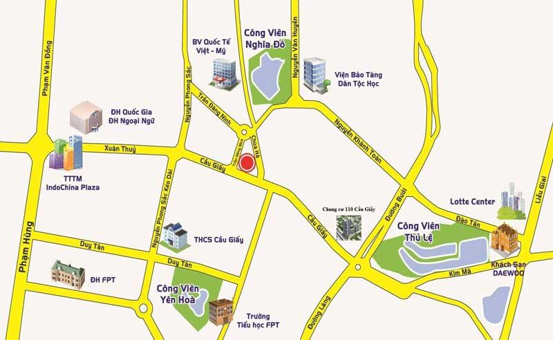 Vị trí thuận lợi Chung cư Centerpoint Cầu Giấy