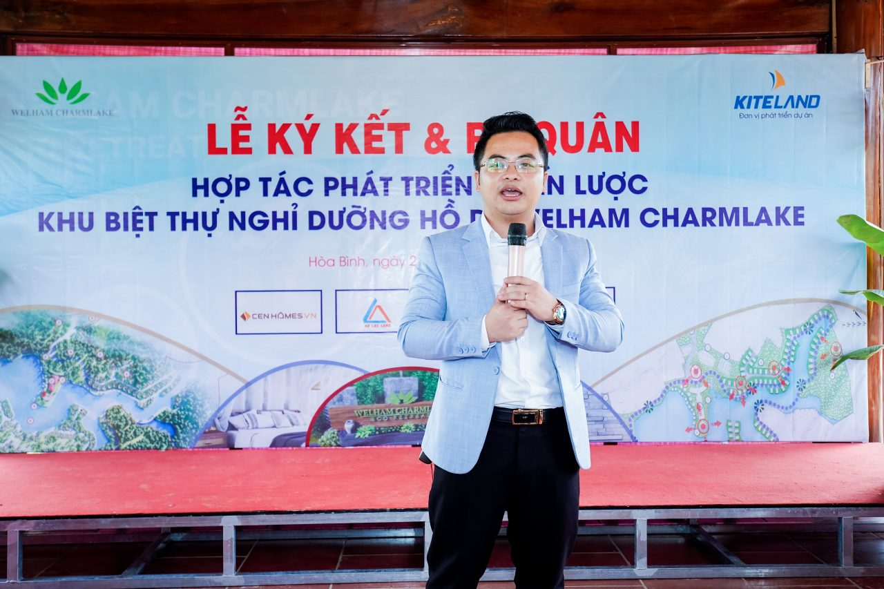 Ông Đinh Việt– Tổng Giám đốc KiteLand phát biểu tại Lễ ra quân