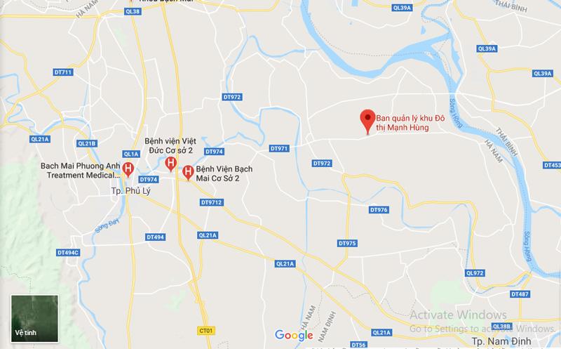 Vị trí đắc địa của KĐT Mạnh Hùng - Hà Nam