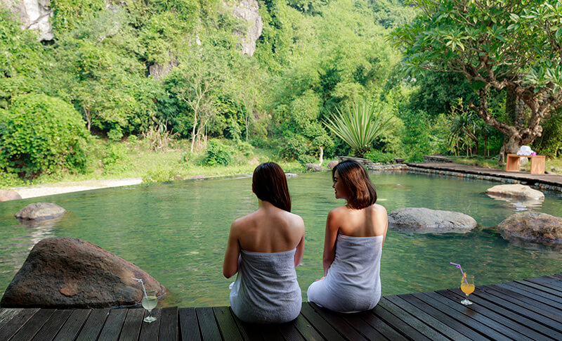 Suối tăm Onsen Serena Resort Kim Bôi